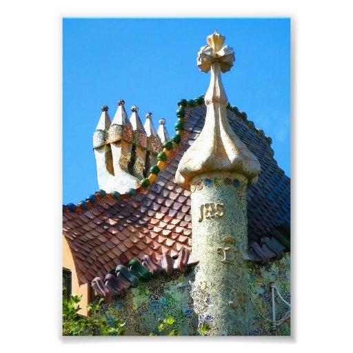 Barcelone, détail d'architecture de Gaudi Photographies D'art