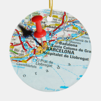 Barcelone, Espagne Ornement Rond En Céramique