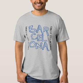 Barcelone est fraîche (bleu) t-shirt