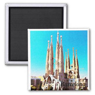 Barcelone Magnet Carré