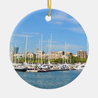 Barcelone Ornement Rond En Céramique