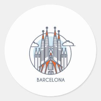 Barcelone Sticker Rond