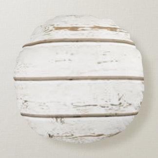 Bardeau blanc coussins ronds