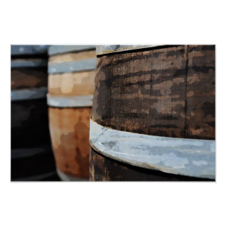 Baril de vin de chêne poster