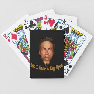 Barillet ouvert jeu de cartes