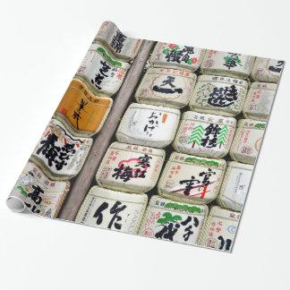 Barils japonais de saké papier cadeau noël