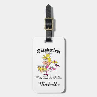 Barmaid d'Oktoberfest Étiquette À Bagage