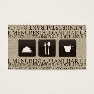 Barman de barre de serveuse de carte perforée de