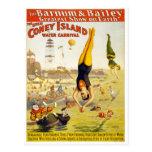 Barnum et carnaval de l'eau de Bailey Coney Island Carte Postale