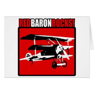 Baron rouge Rocks ! Carte De Vœux