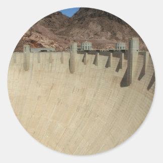 Barrage de Hoover 2 Sticker Rond