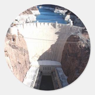 Barrage de Hoover Autocollant Rond