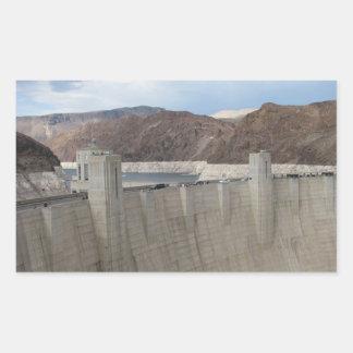 Barrage de Hoover Sticker Rectangulaire