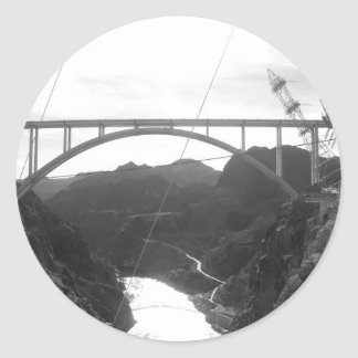 Barrage de Hoover Sticker Rond