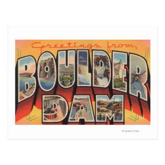Barrage du Nevada - de Boulder - grandes scènes de Carte Postale