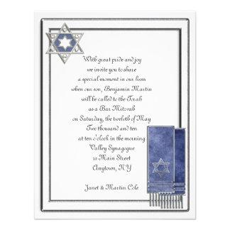 Barre argentée Mitzvah de cadre invitations