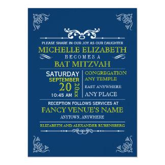 Barre-Batte vintage Mitzvah d'affiche de Invitations Personnalisables