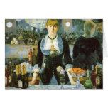 Barre chez le Folies-Bergere, Manet, beaux-arts Cartes De Vœux