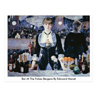 Barre chez le Folies-Bergere par Edouard Manet Carte Postale