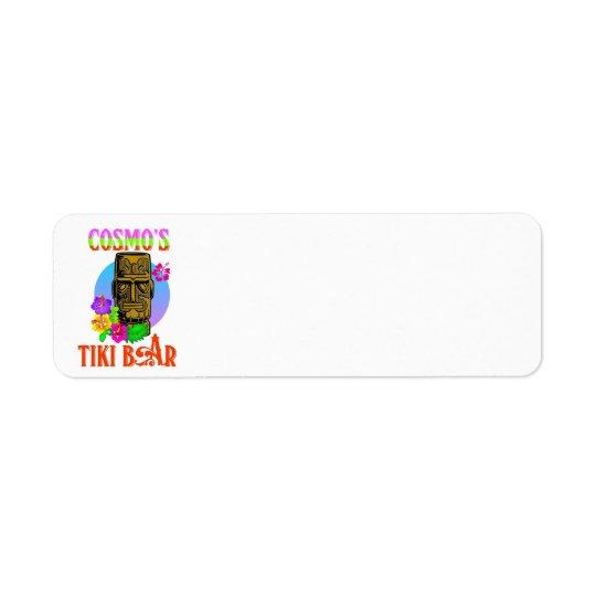Barre de Tiki de Cosmo Étiquettes D'adresse Retour