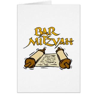 Barre Mitzvah Cartes