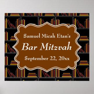 Barre Mitzvah de conception d étagère de Brown Posters