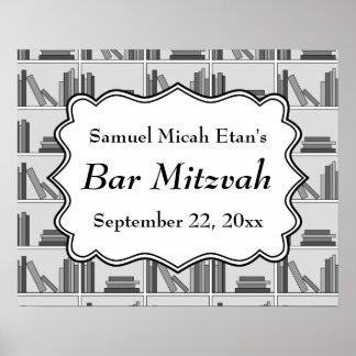 Barre Mitzvah de conception d étagères à livres Posters