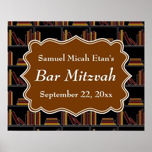 Barre Mitzvah de conception d'étagère de Brown Posters