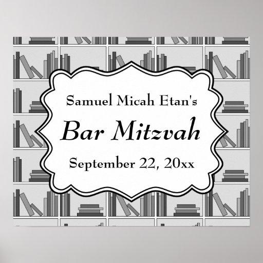 Barre Mitzvah de conception d'étagères à livres Posters