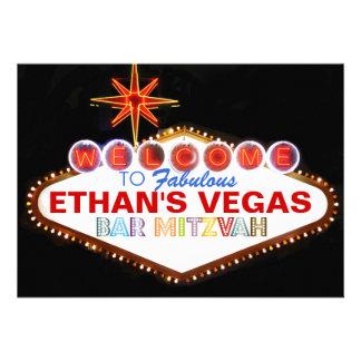 Barre Mitzvah de PixDezines Las Vegas Faire-part Personnalisé