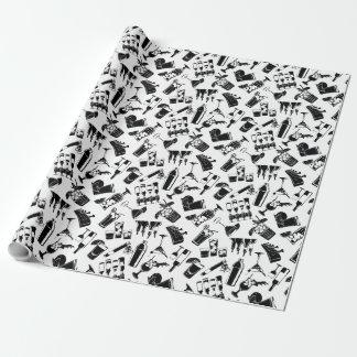 Barre noire de cocktail de motif papier cadeau