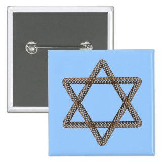 Barre ou bat mitzvah tressée d étoile de David Badges Avec Agrafe
