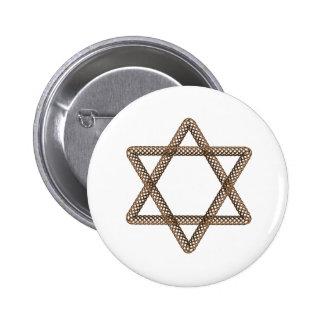 Barre ou bat mitzvah tressée d'étoile de David Badge