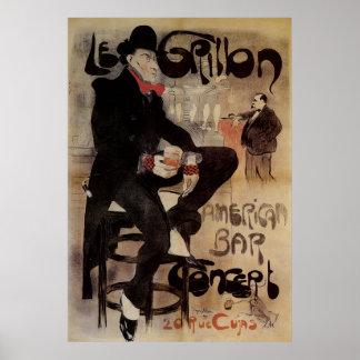 Barre potable d'Américain de bière d'art d'homme Posters