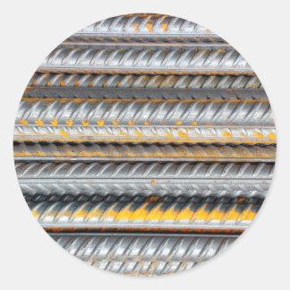 Barres d'acier de motif rouillées sticker rond