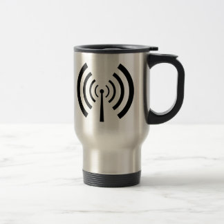 Barres de signal radio mug de voyage