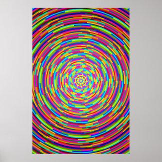Barres psychédéliques poster