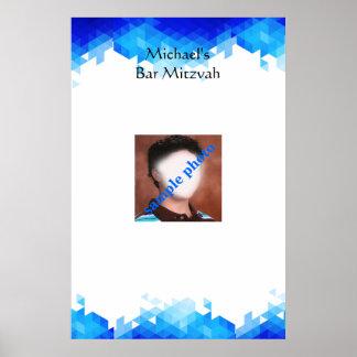 Barrez Mitzvah, géométrique, photo, signez dedans Poster