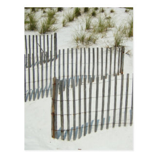Barrière de dune de sable carte postale