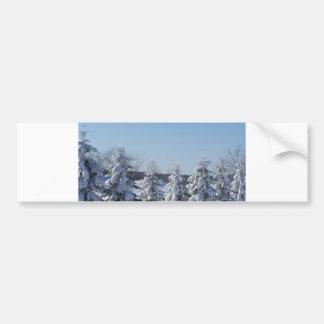 barrière de pin d'hiver autocollant pour voiture