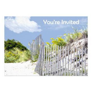 Barrière de plage et invitation dunaire