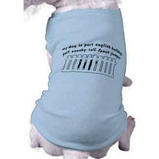 Barrière-Pullover anglais de pièce de bouledogue d Tee-shirt Pour Toutou