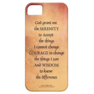 Barrière une de coing de prière de sérénité coque barely there iPhone 5