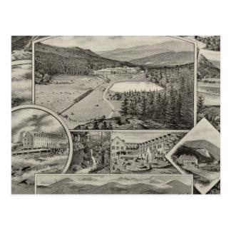 Barron et maisons blanches de la montagne de carte postale
