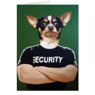 Barry le garde de sécurité carte de vœux