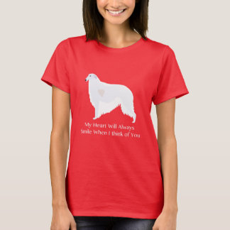 Barzoï pensant à vous conception t-shirt