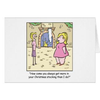 Bas de bande dessinée de Noël Carte De Vœux