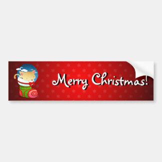 Bas de Noël Autocollant De Voiture
