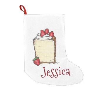 Bas de Noël de tranche de gâteau de nourriture Petite Chaussette De Noël