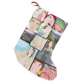Bas fait sur commande de Noël de photo de mosaïque Petite Chaussette De Noël